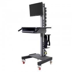 IAC S5 Mobile/Rolling Computer Cart w/ Monitor, CPU & Keyboard Mounts