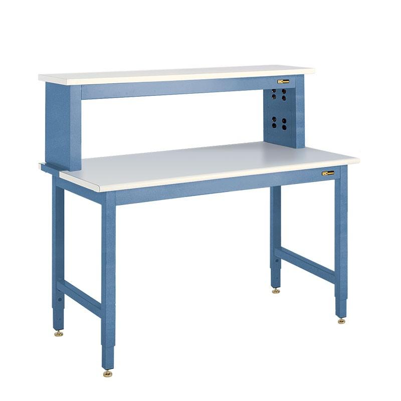 Iac Heavy Duty Steel Workbench W Instrument Shelf B6 30 36 X 48 96 Equipmax