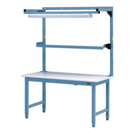 Iac Steel Workbench W Overhead Light Amp Utility Shelf 30