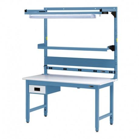 Iac Workbench W 6 Drawer Electrical Shelf Amp Light 30