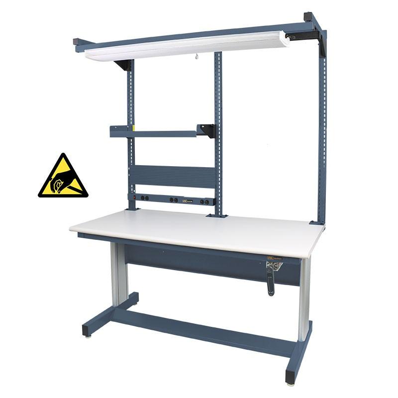 Iac Hand Crank Height Adjustable Workbench 30 D X 60 W