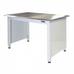 "STAINLESS STEEL LAB TABLE - ADJUSTABLE or FIXED 30-36"" (H) x 24-36"" (W) X 48-96"" (L) w/End Panels"