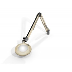 "5"" Round Green-Lite LED Magnifiers with Table Edge Clamp"