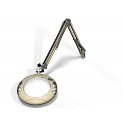 "7.5"" Round Green-Lite LED Magnifiers with Table Edge Clamp"