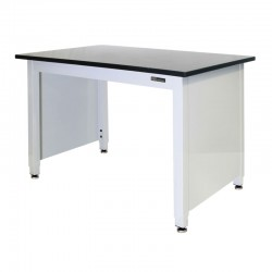 "EPOXY LAB TABLE - ADJUSTABLE or FIXED 30-36"" (H) x 24-36"" (W) X 48-96"" (L) w/End Panels"