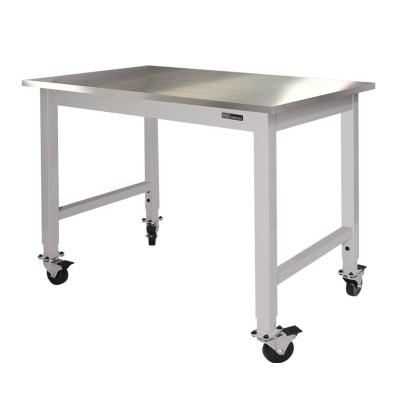 Iac Mobile Rolling Lab Table Stainless Steel Top