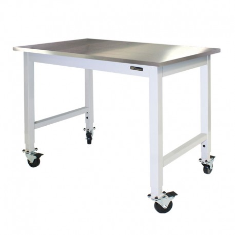 IAC Mobile Rolling Lab Table Stainless Steel Top EquipMax - 36 x 48 stainless steel table