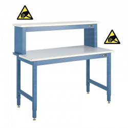 IAC ESD Anti-Static Electronics Workbench w/ Instrument Shelf