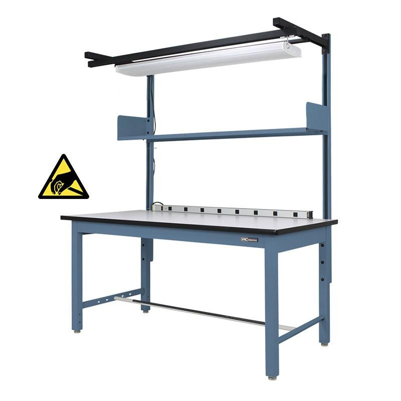 Industrial Esd Workbench Work Table W Shelf Light
