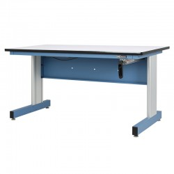 "Hand Crank Height Adjustable Industrial Workbench – 30""D x 60""W"