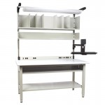 IAC Packing Shipping Station w/ Monitor Mount 30-36D x 60-72W x 48H, 1500 lbs load